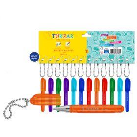 Ручка-брелок шарик синий ассорти TZ-2010 Tukzar