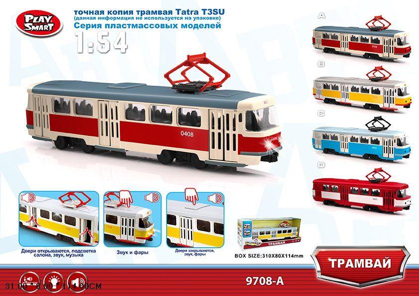 Трамвай Play Smart Автопарк Tatra T3SU (9708A) 1:54