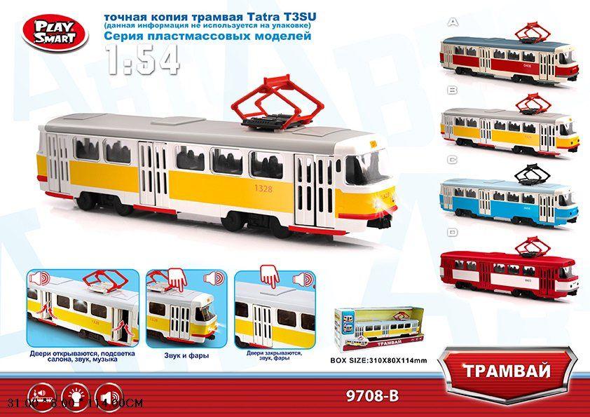 9708B Модель трамвая Tatra T3SU 1:54