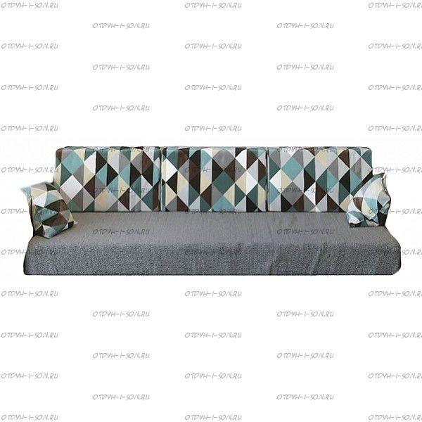 Матрас прямоугольный Стандарт ППУ диванного типа Мебель-ONLY №1 в чехле в цвет кровати.