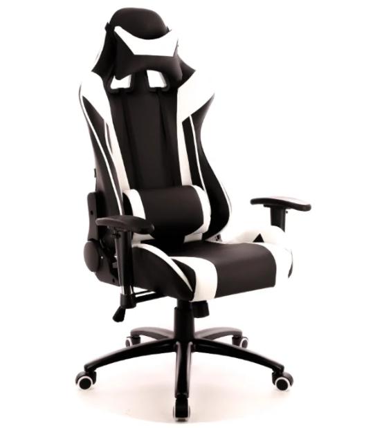 Компьютерное кресло Everprof Lotus S6 игровое Черное с белым