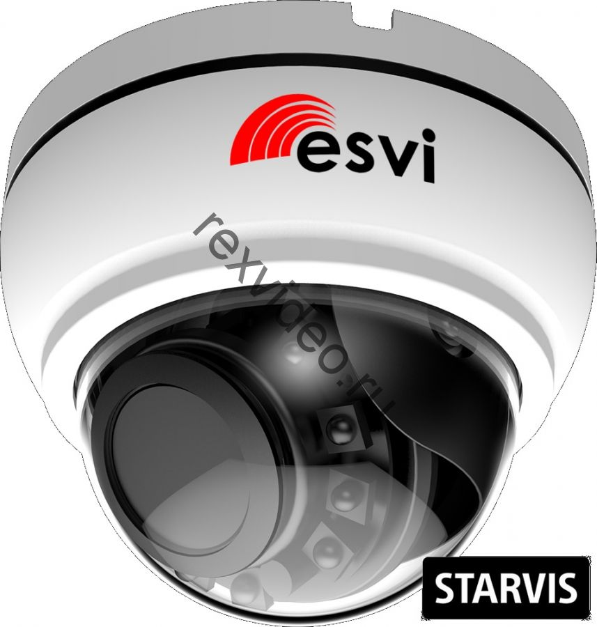 вариофокальная купольная IP (2 Mp, f=2.8-12мм, Sony STARVIS IMX307, POE, SD, аудио вх. )  EVC-NK20-SL20-P/C/A (BV)