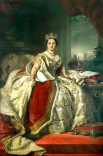 Парадный портрет Королевы Виктории (Репродукция Франц Ксавер Винтерхальтер)