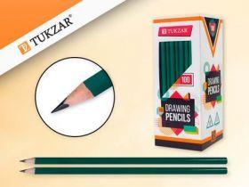 Карандаш пластиковый TZ 10234 НВ трехгранный, зеленый Tukzar