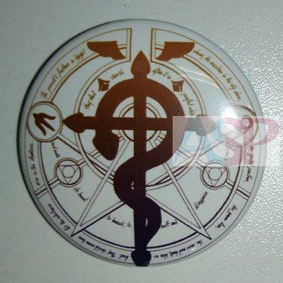 Значок (Средний 37 мм) Fullmetal Alchemist