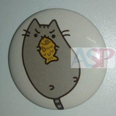 Значок (Средний 37 мм) Pusheen the cat