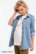 Джинсовая рубашка для беременных  Артикул: 11522