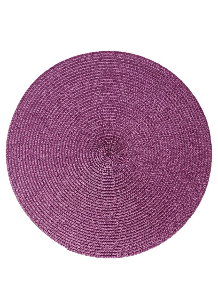 Термосалфетка круглая кухонная плейсмат Dutamel салфетка сервировочная плетеная фиолетовая DTM-015 диаметр 30 см - 1 шт