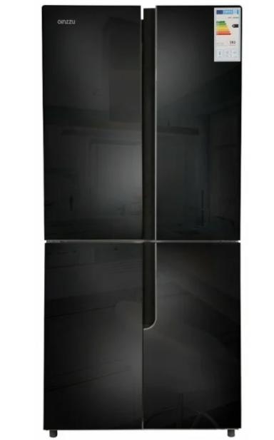 Холодильник GiNZZU NFK-500 Черное стекло