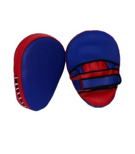 Лапа боксерская изогнутая 24х18 см/ 26х20 см, красно-синяя