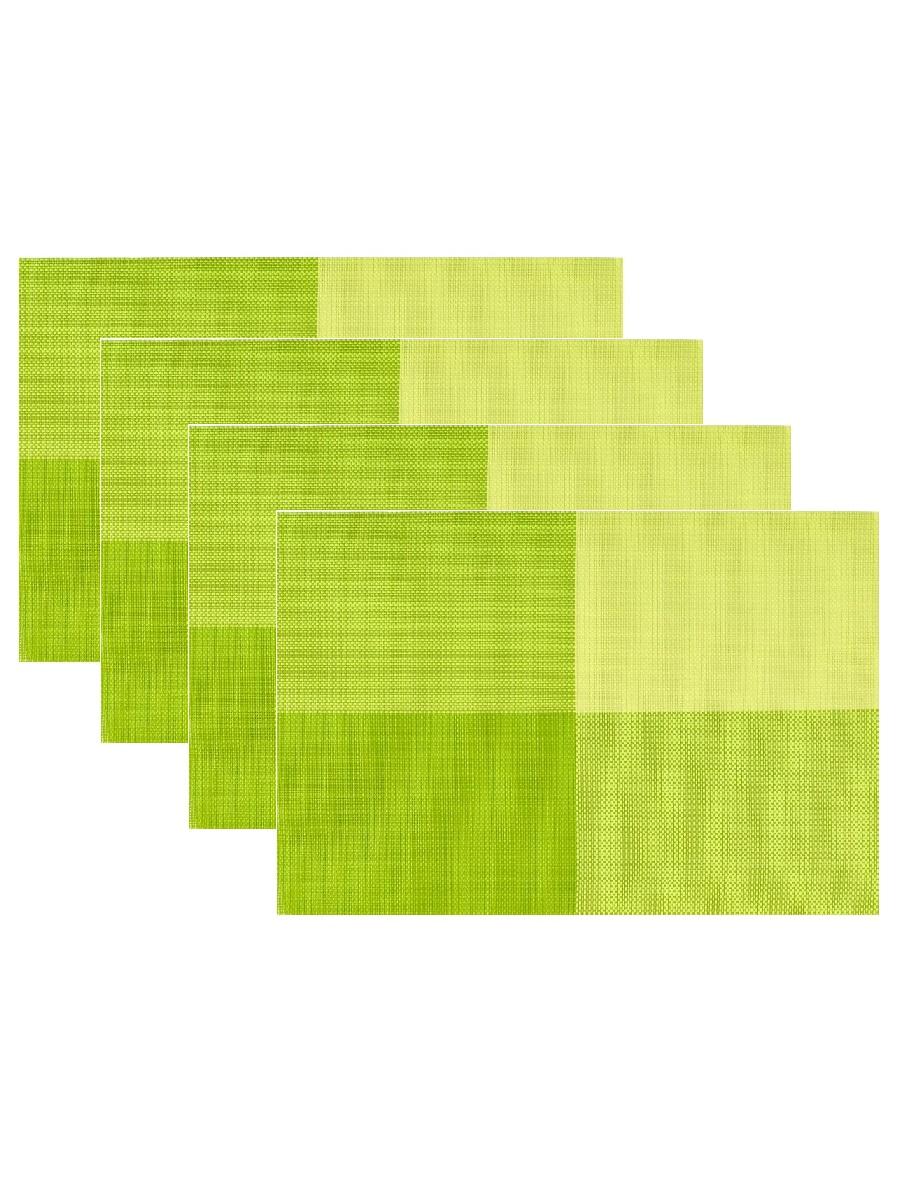 Набор из 4-х прямоугольных кухонных термосалфеток Dutamel плейсмат салфетка сервировочная - салатовые прямоугольники DTM-016 45*30 см
