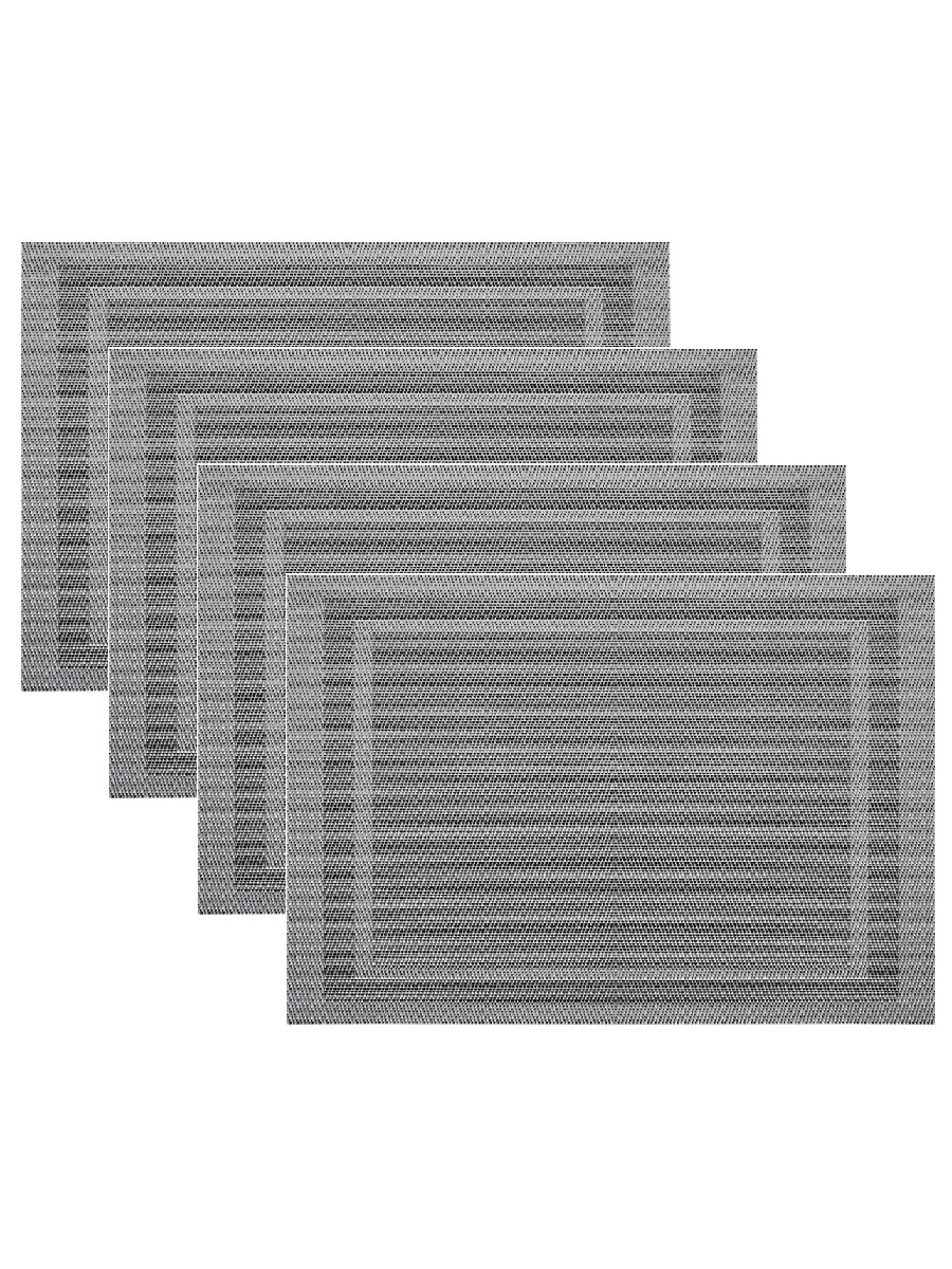 Набор из 4-х прямоугольных кухонных термосалфеток Dutamel плейсмат салфетка сервировочная - рамка серая DTM-025 45*30 см
