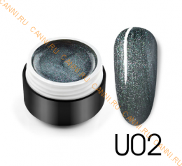 "Гель лак Venalisa ""Black Seashell Color Gel"" U02"