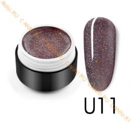 "Гель лак Venalisa ""Black Seashell Color Gel"" U11"