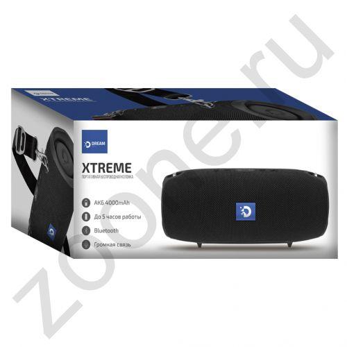 Колонка BLUETOOTH XTREME (AUX, microSD, USB) черный DREAM (на русском) (скидка 50 процентов)