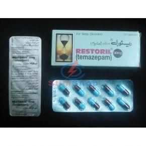 Темазепам (Temazepam) Restoril 30 mg купсулы 10 штук