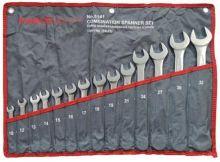 Набор ключей комбинированных 14 пр (10,12-19,21,24,27,30,32мм), на полотне