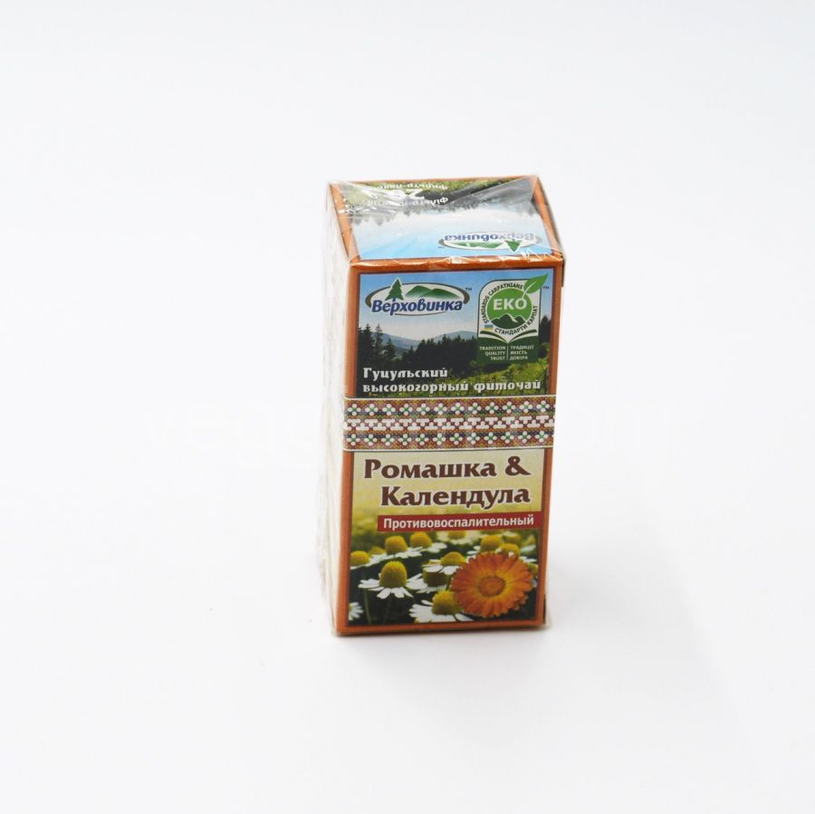 Фиточай Ромашка и Календула противовоспалительный Верховена,26 грамм
