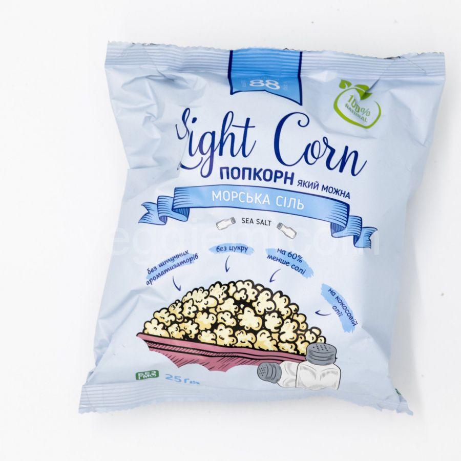 Поп Корн с солью  на кокосовом масле ,20 грамм