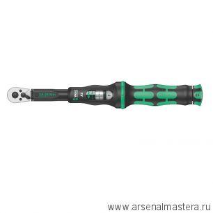 Динамометрический ключ Click-Torque A 5 с трещоткой и реверсом квадрат DR 1/4 дюйм 290 мм WERA 075604