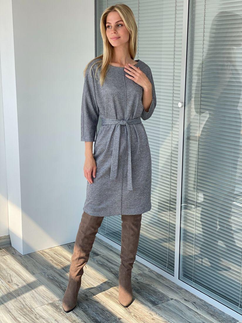 s2207 Платье из трикотажа с планкой