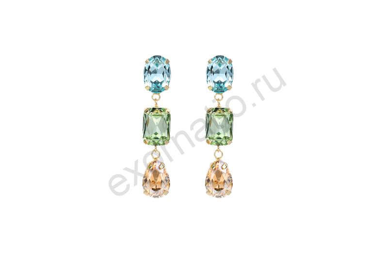 Серьги Evita Peroni 10696-660. Коллекция Earring 2 MIx color