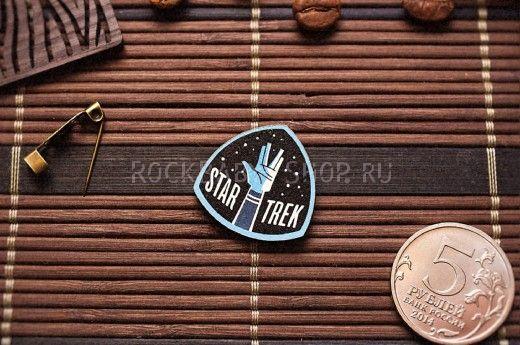 Деревянный значок Стартрек
