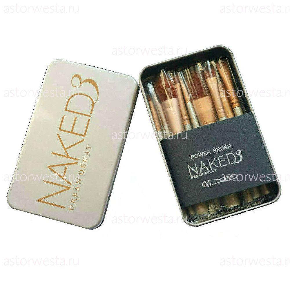 Urban Decay Naked 3, набор кистей для макияжа 12 в 1