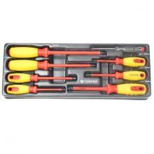 Набор отверток диэлектрических 8пр. (PH 0,1,2.SL 2.5,4,5.5,6.5)в лотке