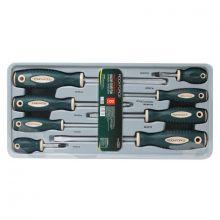 Набор отверток магнитных S2, 8пр.(PH:1х75, 2x38, 2х100, 3х150мм; SL: 5.5х75, 6.5х38, 6.5х100, 8х150мм)в лотке