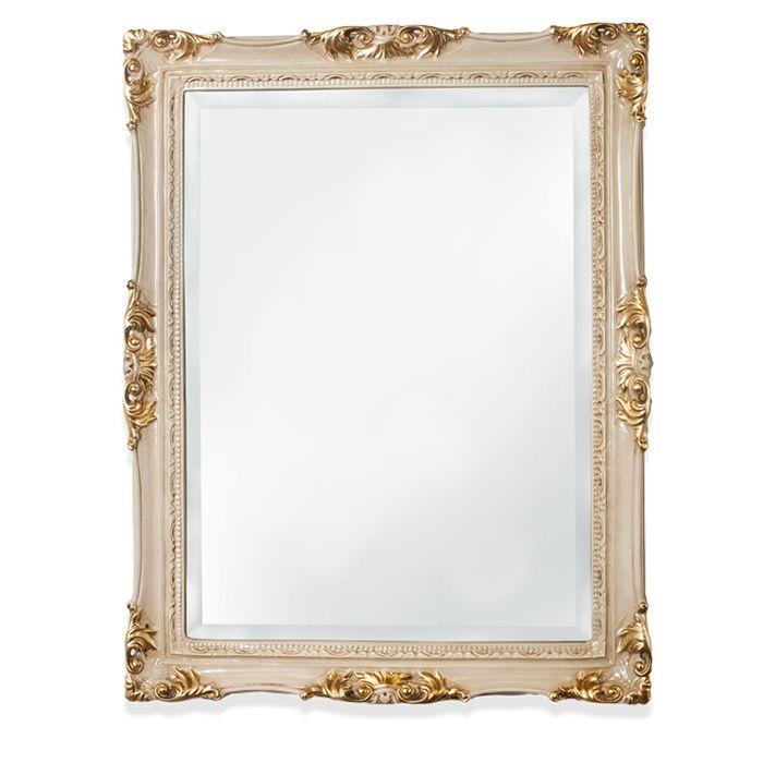 Зеркало Tiffany World TW00262avorio/oro в раме 72х92 ФОТО