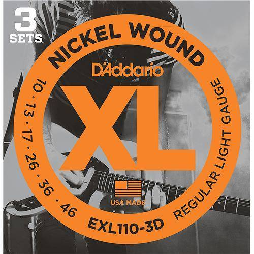D'ADDARIO EXL110-3D (10-46) Струны для электрогитары, 3 комплекта