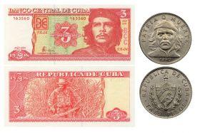Куба 3 песо МОНЕТА+БАНКНОТА - Эрнесто Че Гевара