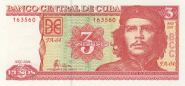 Куба 3 Песо 2004 UNC ПРЕСС