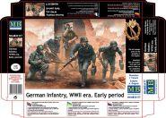Фигуры, Немецкая пехота, период Второй мировой войны. Начальный период