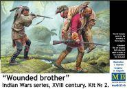 Фигуры, Раненый товарищ. Серия Индейских войн, XVIII век. Набор № 2