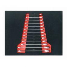 Набор ключей комбинированных трещоточных, 13пр. (8-19, 21, 22мм) в ложементе