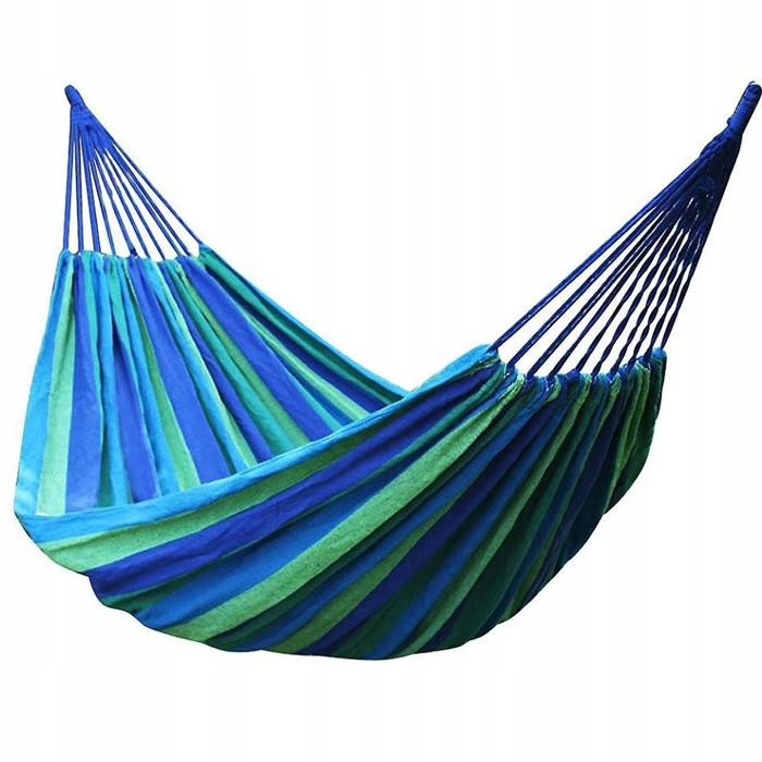 Синий полотняный гамак, Д 180 см, Ш 100 см
