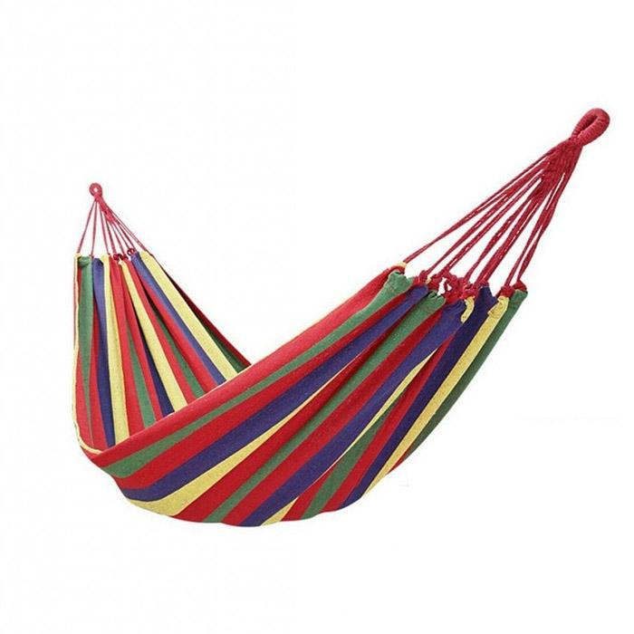 Красный полотняный гамак, Д 180 см, Ш 80 см