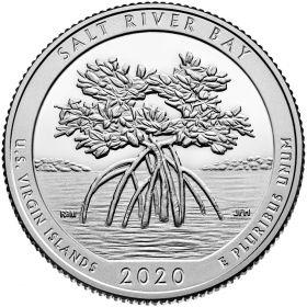 Бухта Солёной реки (Американские Виргинские острова) 25 центов США 2020 Двор на выбор