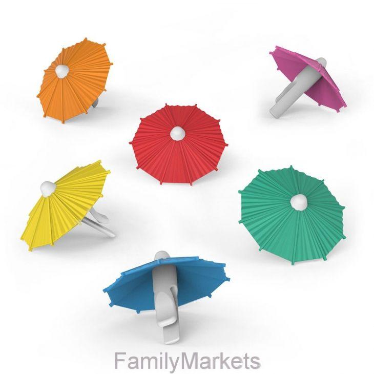 Зонтики для коктейля MY TAI силиконовые 6шт