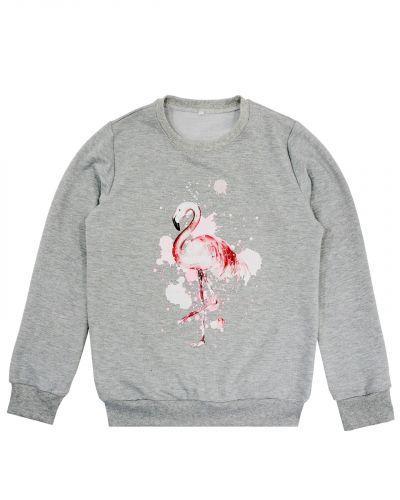 """Свитшот женский """"Flamingo"""" серый"""