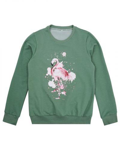 """Свитшот женский """"Flamingo"""" зеленый"""