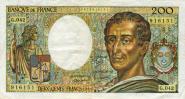 ФРАНЦИЯ - 200 франков 1981-86гг VF+