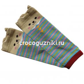 Гетры детские Animal Kids (one size/ 0-3 г) Мишка полосатый
