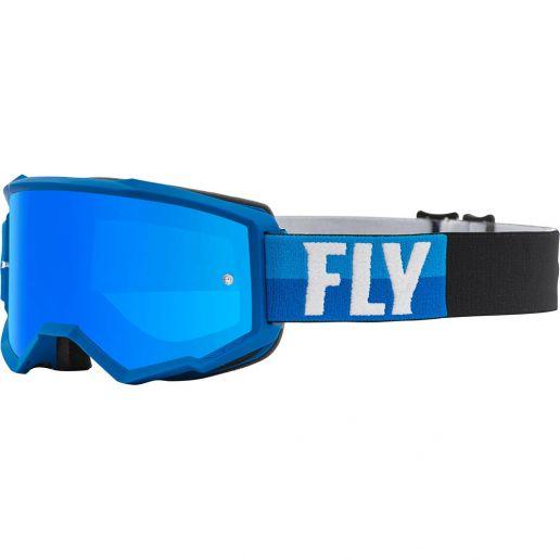 Fly Racing 2021 Zone Blue/Black Sky Blue Mirror/Smoke Lens очки для мотокросса