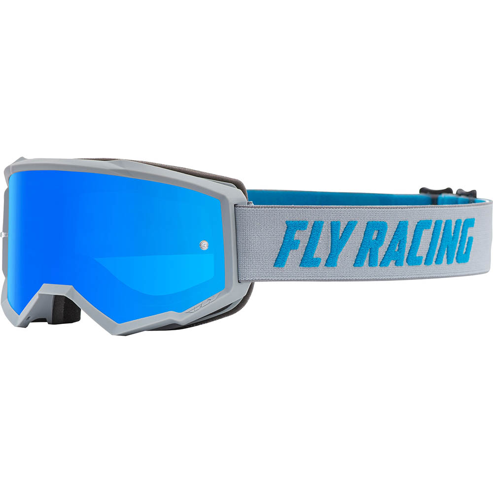 Fly Racing 2021 Zone Grey/Blue Sky Blue Mirror/Smoke Lens очки для мотокросса