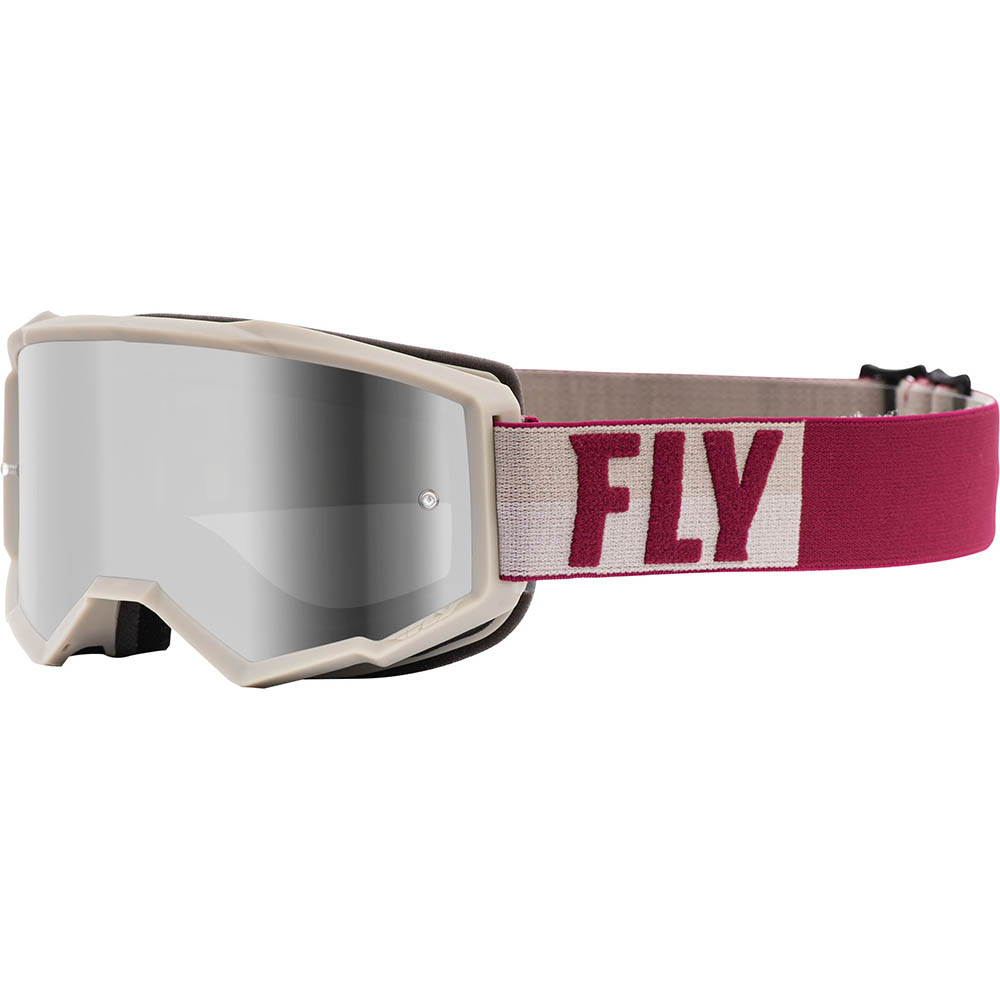Fly Racing 2021 Zone Stone/Berry Silver Mirror/Smoke Lens очки для мотокросса