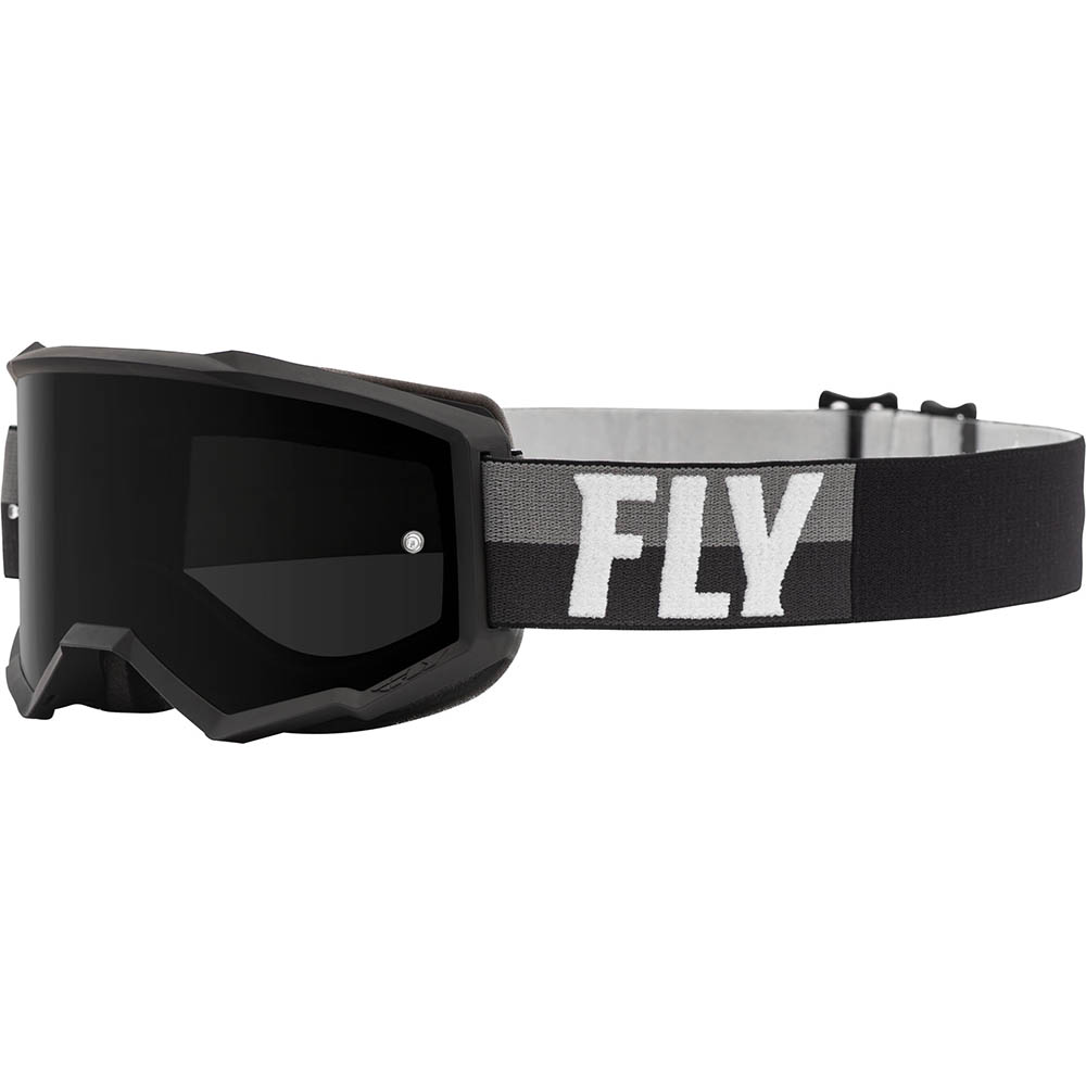 Fly Racing 2021 Zone Black/White Dark Smoke Lens очки для мотокросса