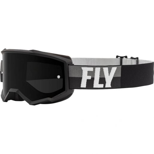 Fly Racing 2021 Zone Black/White Dark Smoke Lens очки для мотокросса